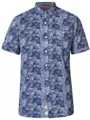 D555 Sheldon Hawaii Shirt Navy