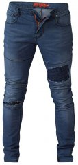D555 Newport Tapered Fit Biker Jeans Blue