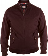 D555 Windsor Cotton Harrington Jacket Burgundy