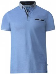 D555 Journey Fine Melange Polo Blue