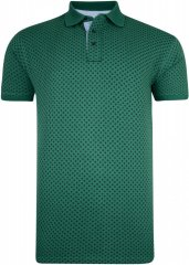 Kam Jeans 5224 Diamond Print Polo Pine