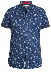 D555 Davian Hawaii Shirt Navy