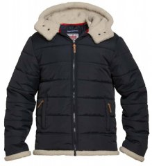 D555 Hudson Hooded Puffer Jacket Navy