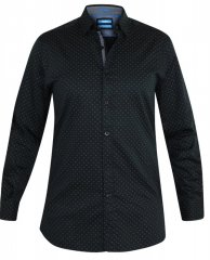 D555 Jahine Long Sleeve Printed Shirt Black