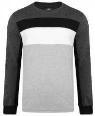 Kam Jeans 5240 Cut and Sew Long Sleeve T-shirt Grey