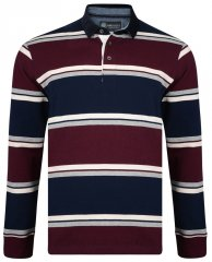Kam Jeans 5242 Long Sleeve Polo Burgundy