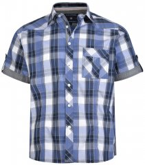 Kam Jeans 6165 Short Sleeve Shirt Navy
