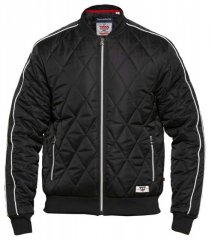 D555 Skipton Quilted Bomber Jacket Black