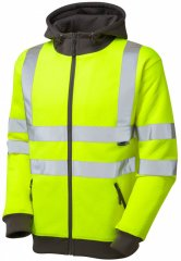 Leo Saunton Hooded Sweatshirt Hi-Vis Yellow