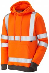 Leo Goodleigh Hooded Sweatshirt Hi-Vis Orange
