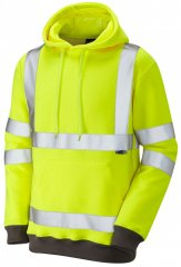 Leo Goodleigh Hooded Sweatshirt Hi-Vis Yellow