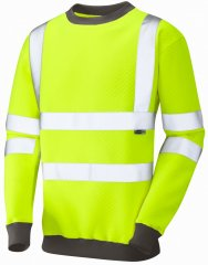 Leo Winkleigh Crew Neck Sweatshirt Hi-Vis Yellow