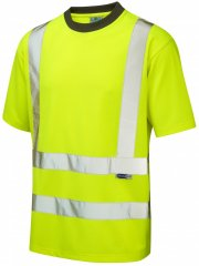 Leo Braunton Coolviz T-shirt Hi-Vis Yellow