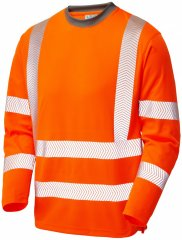 Leo Capstone Coolviz Plus Long Sleeve T-shirt Hi-Vis Orange