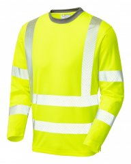 Leo Capstone Coolviz Plus Long Sleeve T-shirt Hi-Vis Yellow