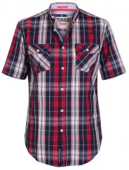 D555 Terell Shirt Navy/Red