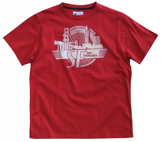 Kam Jeans S. F. Tee Red - T-paidat - Isot T-paidat 2XL – 8XL