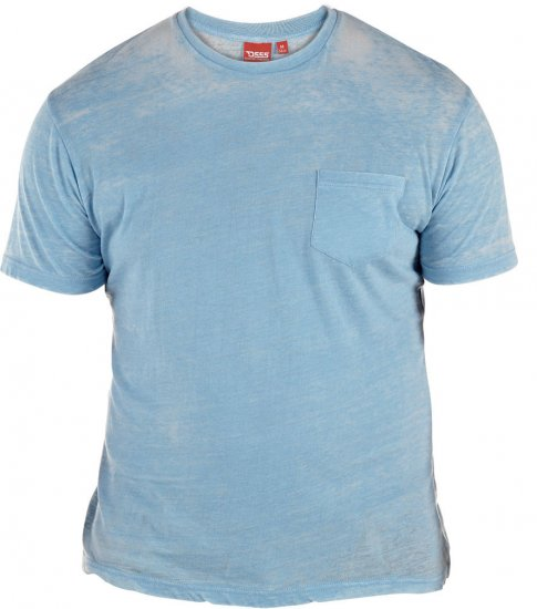 D555 Mavi T-shirt Blue with Pocket - T-paidat - Isot T-paidat 2XL – 8XL