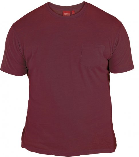D555 Mavi T-shirt Burgundy with Pocket - T-paidat - Isot T-paidat 2XL – 8XL