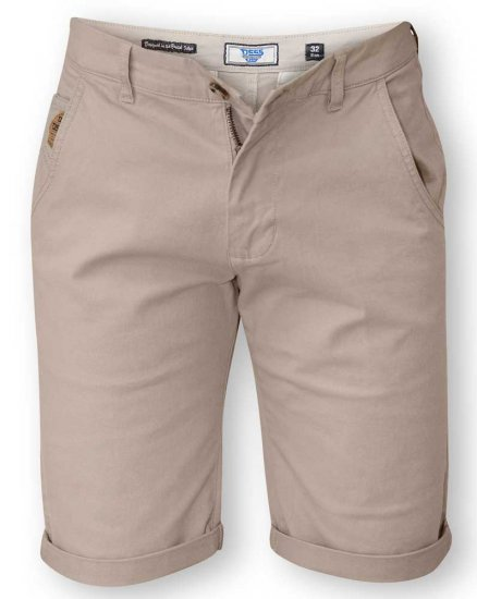D555 COLTEN Stretch Cotton Chino Short Beige - Shortsit - Shortsit, isot koot – W40-W60