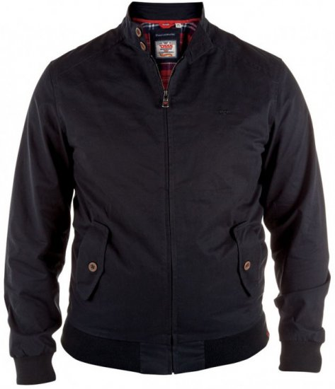 D555 Windsor Cotton Harrington Jacket Navy - Takit - Takit, isot koot – 2XL – 8XL
