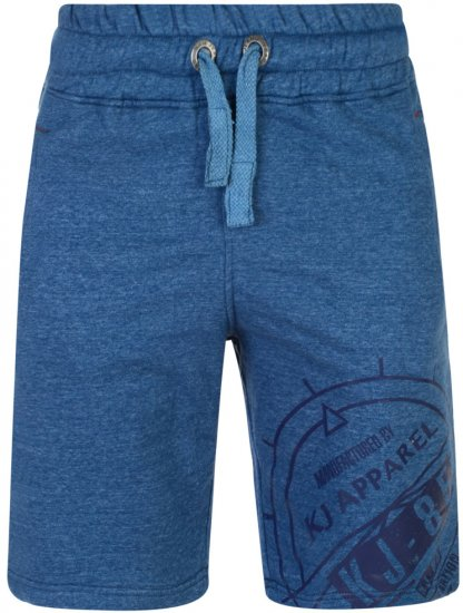 Kam Jeans 302 Fashion Sweat Shorts Blue - Collegehousut ja Collegeshortsit - Isot collegehousut ja collegeshortsit