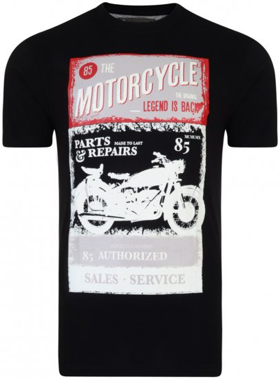 Kam Jeans Motorcycle Tee - T-paidat - Isot T-paidat 2XL – 8XL