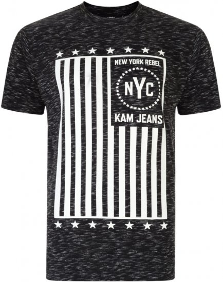Kam Jeans NY Rebel Tee -Black Edition - T-paidat - Isot T-paidat 2XL – 8XL