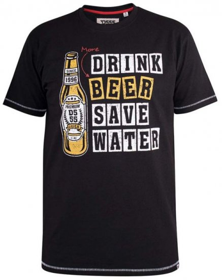D555 Salford Save Water Drink Beer T-shirt Black - T-paidat - Isot T-paidat 2XL – 8XL