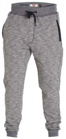 D555 Denzel Sweatpants Grey - Collegehousut ja Collegeshortsit - Isot collegehousut ja collegeshortsit