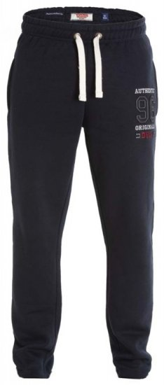 D555 Portland Sweatpants Navy - Collegehousut ja Collegeshortsit - Isot collegehousut ja collegeshortsit