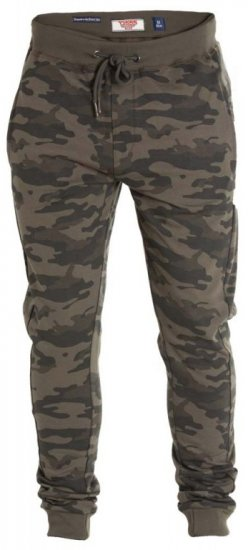 D555 Sutton Sweatpants Camo - Collegehousut ja Collegeshortsit - Isot collegehousut ja collegeshortsit
